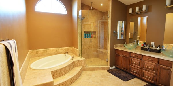 Brea Traditional Master Bathroom Remodel - 3