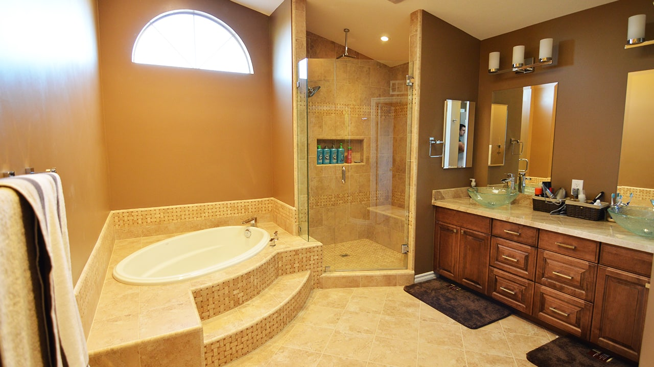 Brea Traditional Master Bathroom Remodel Home Accents
