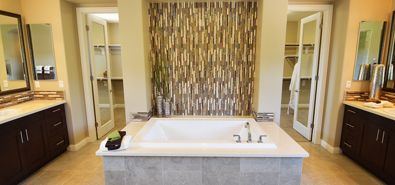 Claremont Newly Constructed Home Contemporary Master Bath - 2