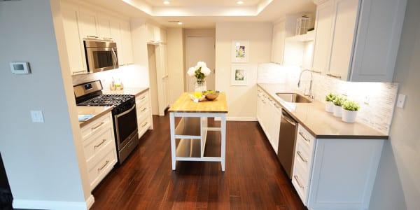 Glendora Contemproary Kitchen Remodel, White Cabinets - 1