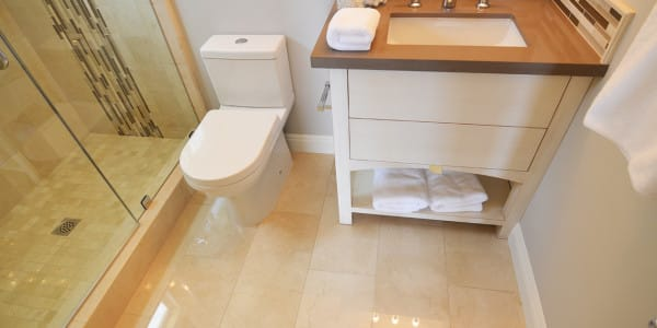 Laguna Beach Eclectic Guest Bathroom Remodel - 1