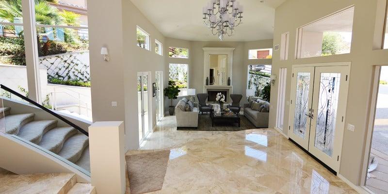 Laguna Beach Marble Floor Remodel - 3