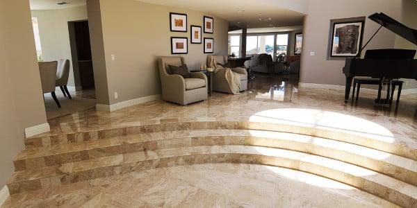 Laguna Beach Marble Floor Remodel - 4