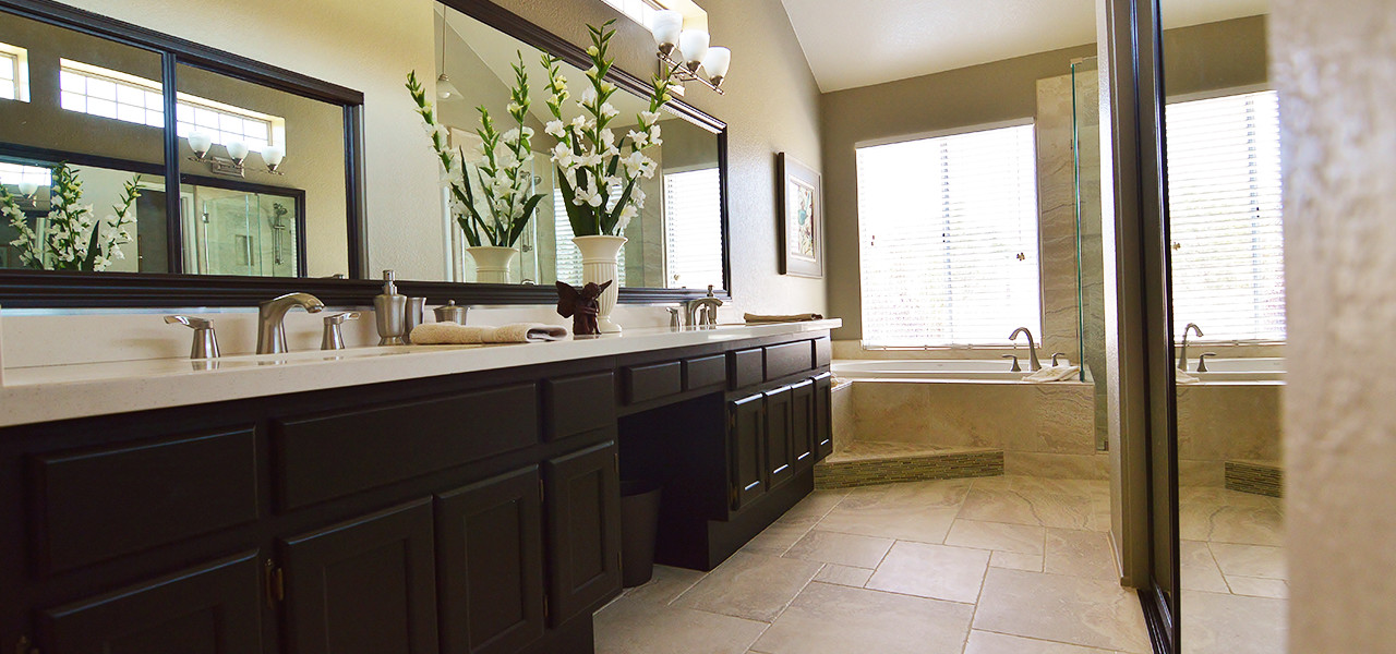 Upland Eclectic Bathroom Remodel - 1