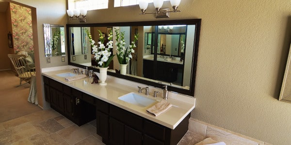 Upland Eclectic Bathroom Remodel - 2