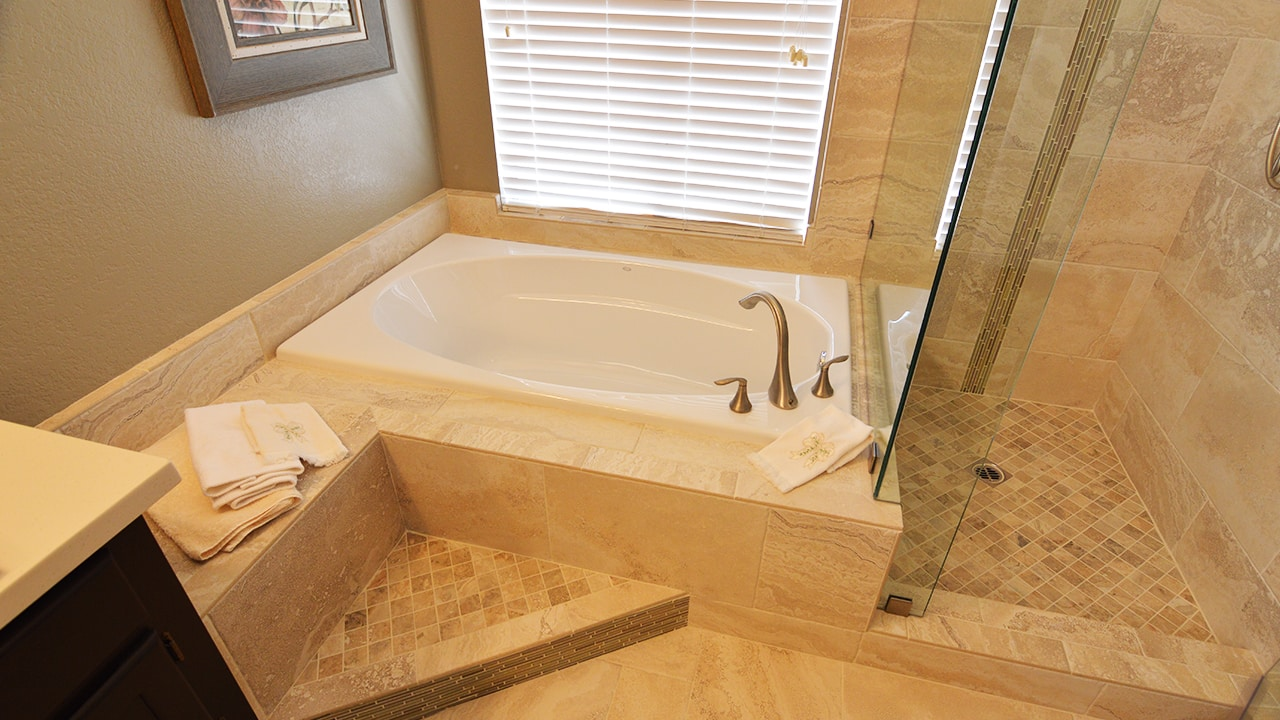 Upland eclectic bathroom remodel home accents for Bathroom renovation project