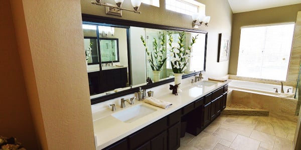Upland Eclectic Bathroom Remodel - 5